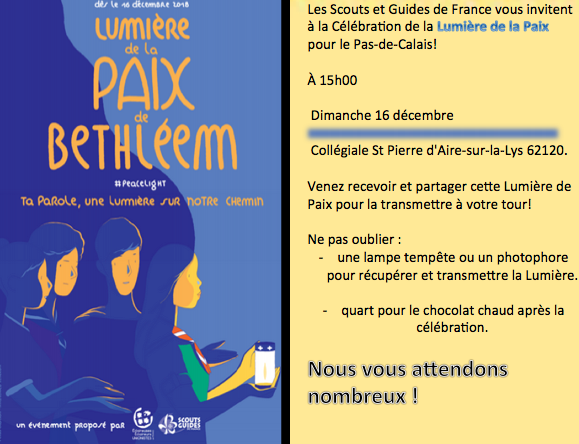 Invitation lumiere de la paix aire 2018 2